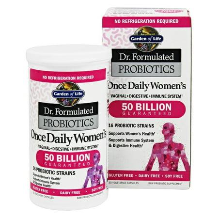 Garden of life dr formulated probiotics once daily women 39 s 50 billion 30 vegetarian for Garden of life once daily women s probiotic