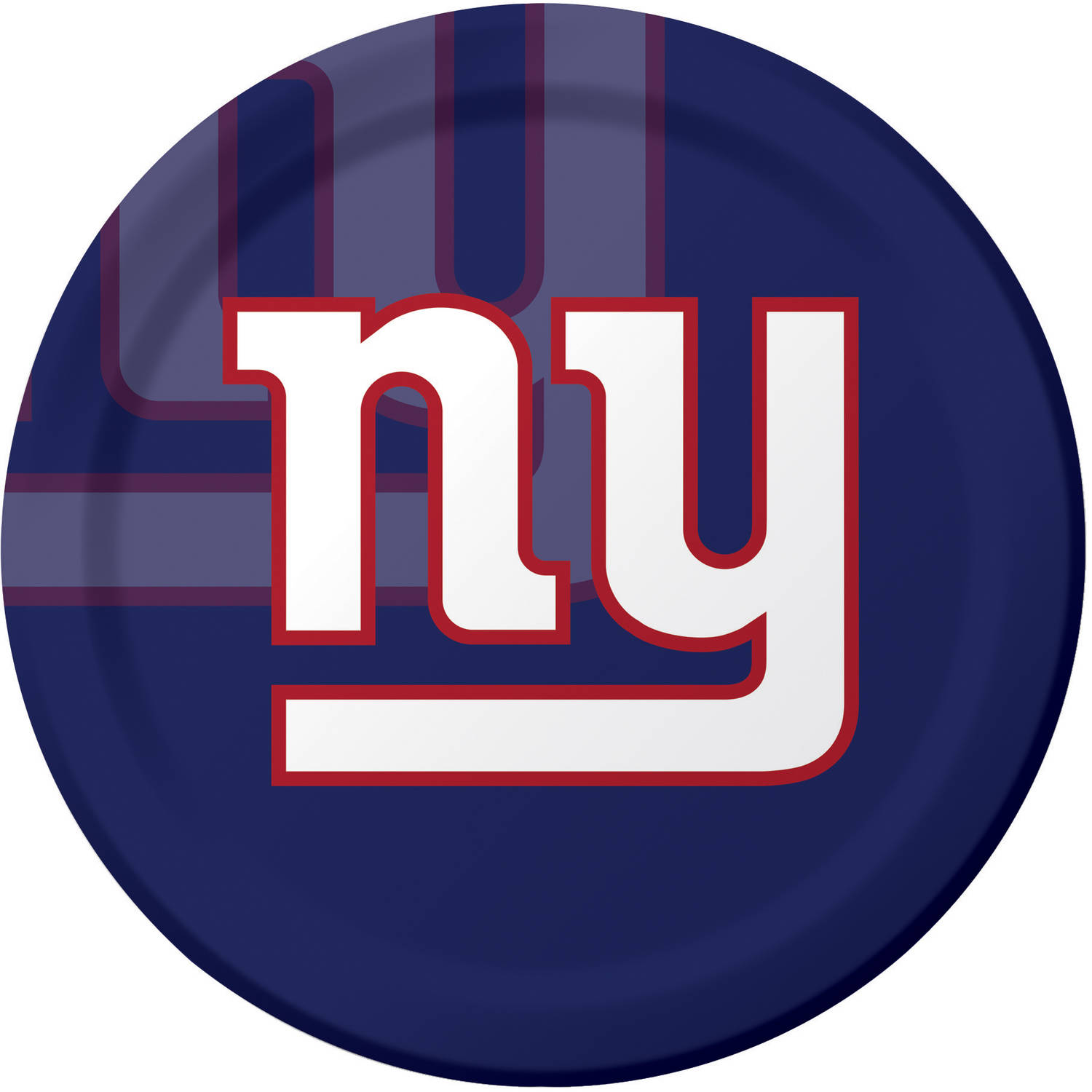 New York Giants Plates, 8-Pack