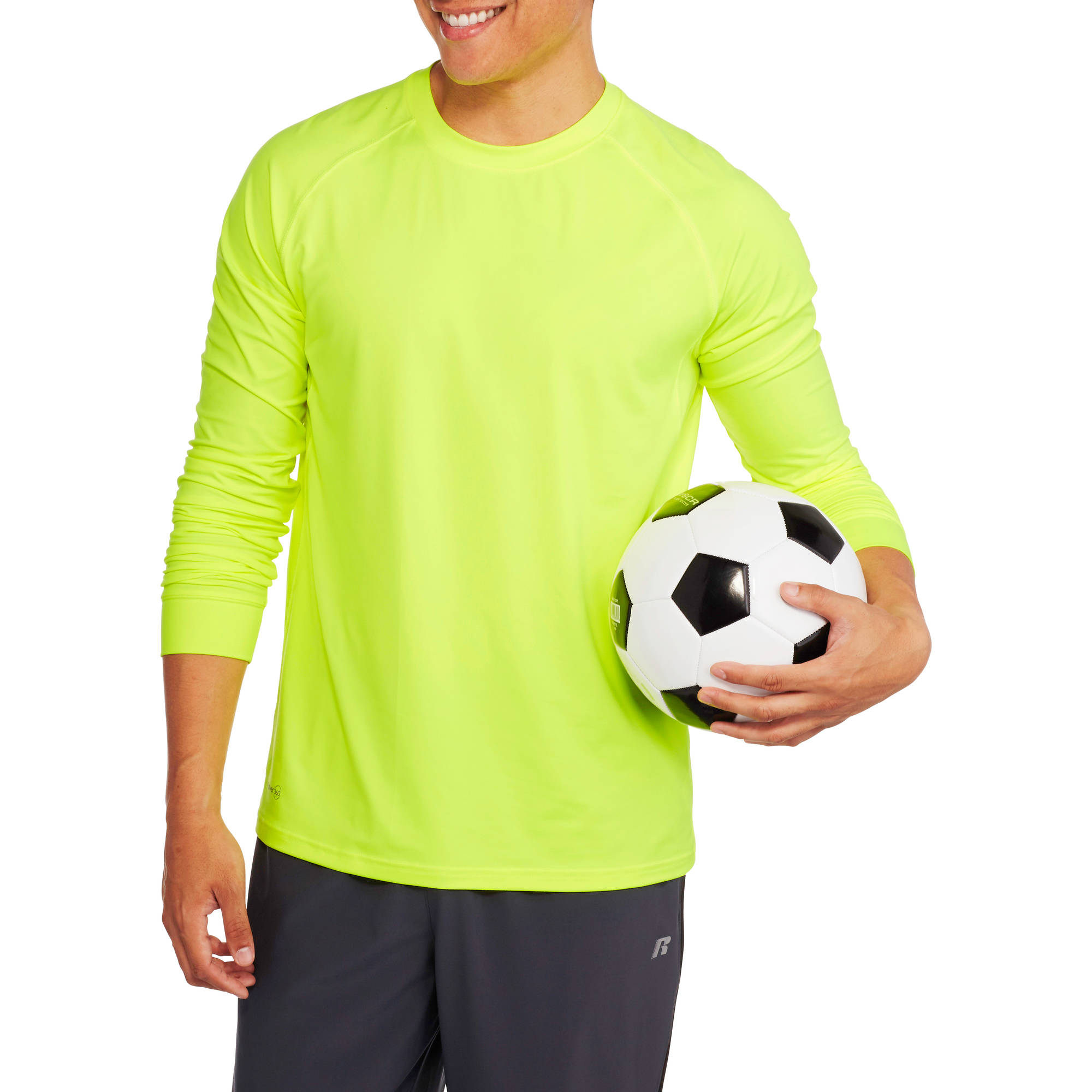 Russell Men's Long Sleeve Sueded Performance Tee