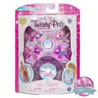 Twisty Petz, Series 2 Babies 4 Pack, Unicorns & Koalas Collectible Bracelet & Case (Purple) for Kids