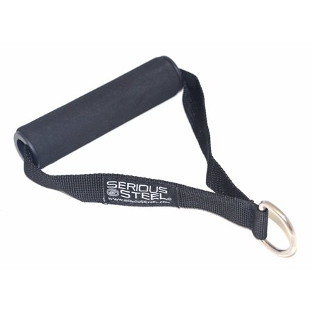 Nylon Fitness Strap | Single D Handle | Cable Attachment | Foam Grip & - Attachment Strap