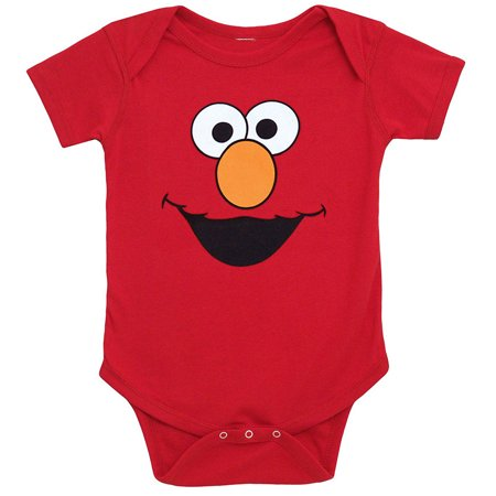 Sesame Street Elmo Face Infant Onesie - Elmo Adult Onesie