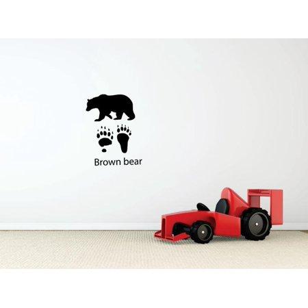 New Wall Ideas Brown Bear Paw Print Claw Wild Outdoor Animal Bathroom 10 X15