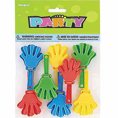 Mini Hand Clapper Party Favors, 8-Count