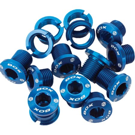 BOX ALLOY CHAIN RING BOLT BLUE 15PC SET