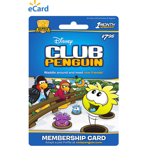 (Email Delivery) Disney Online Club Penguin One Month $7.95