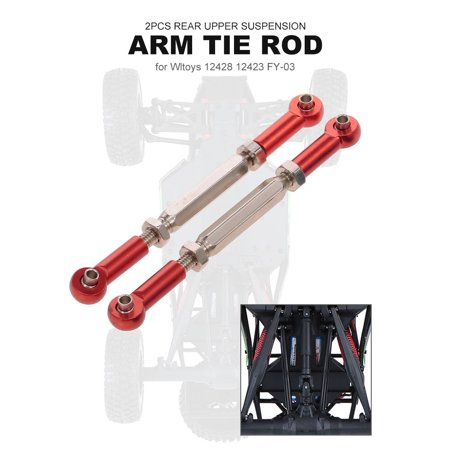 2pcs RC Car Rear Upper Suspension Arm Tie Rod for 1:12 Wltoys 12428 12423 FY03 Off-Road Car