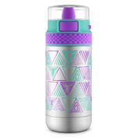 Ride Stainless Steel Water Bottle, Mint/Purple 14 oz