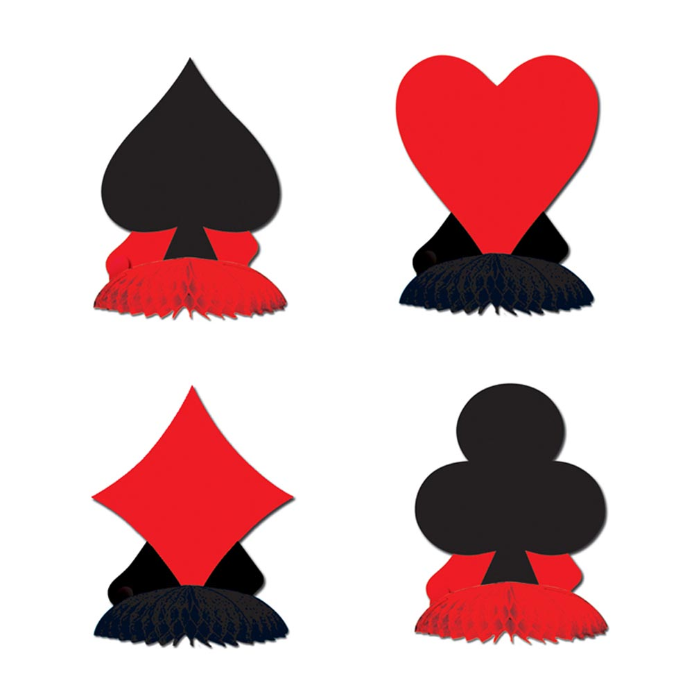 Beistle 57479 Card''Suit'' Playmates - Pack of 12