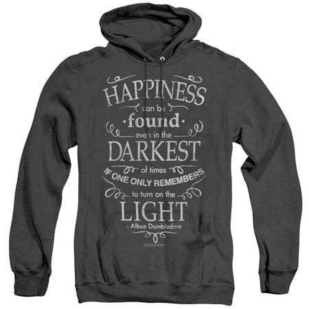 Trevco Sportswear HP8085-AHH-4 Harry Potter & Happiness Adult Heather Pull-Over Hoodie,  Black - Extra Large Happiness Mens Hoodie