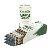 Crayola Large Non-Toxic Single Colors Crayon Refill, Gray, 2