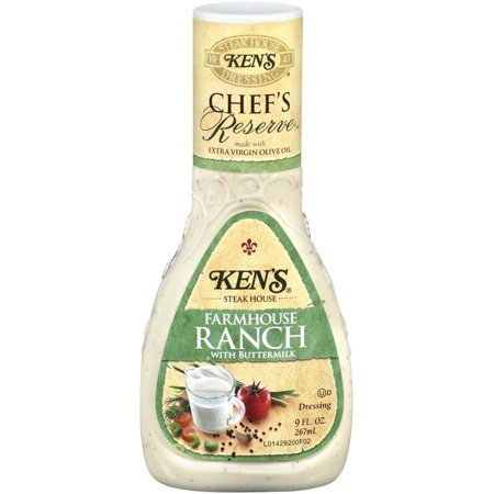 Ken's Steakhouse Chef's Reserve Dressing, Farmhouse Ranch with Buttermilk, 9 Fl