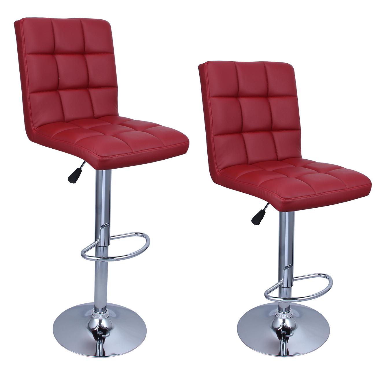hydraulic bar stools. Belleze Swivel Leather Adjustable Hydraulic Bar Stool Merlot Red, Set Of 2 Stools A