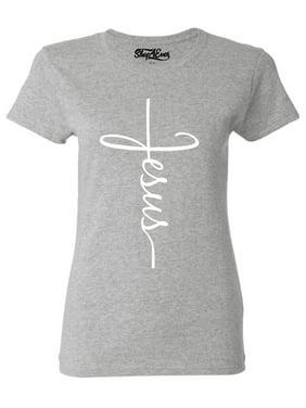 6e26155faca0e Product Image Shop4Ever Women s Jesus Cross Religious Graphic T-Shirt