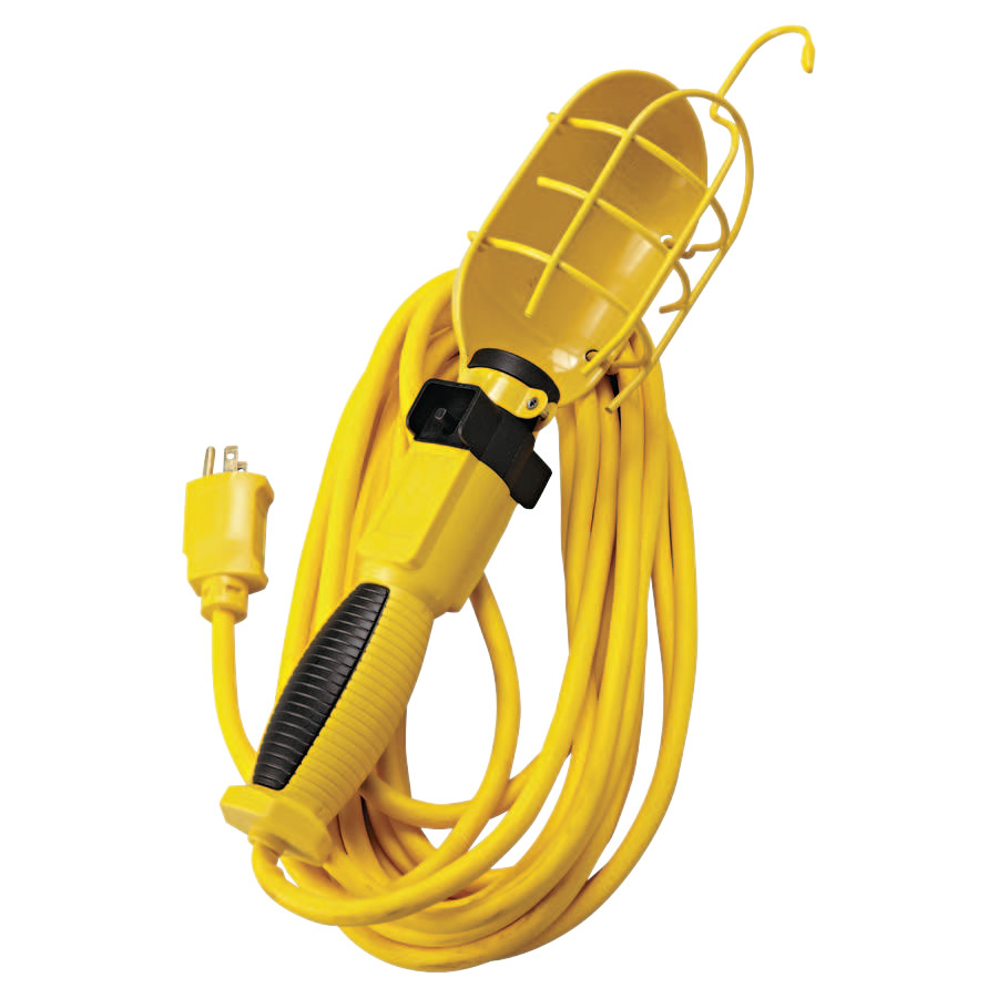 Southwire 25' 16/3 SJEO YELLOW TROUBLE LIGHT GROUNDED CO