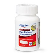 Equate Extra Strength Pain Relief Acetaminophen Caplets, 500 mg, 100 Count