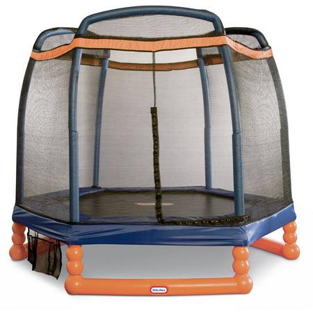 Little Tikes 7-Foot Trampoline, with Enclosure, Blue/Orange