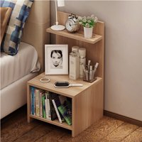HLC Wood Nightstand Bed End Side Table Bathroom Cabinet