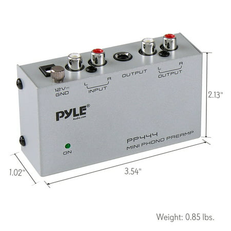 - PYLE-PRO PP444 Ultra Compact Phono Turntable Preamp