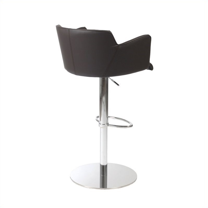 Adjustable Bar Stool in Brown and Chrome - image 2 de 4
