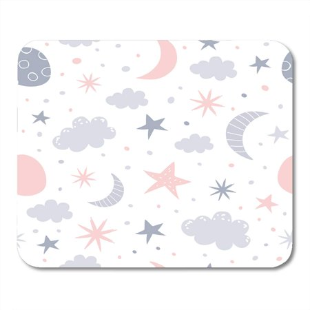 POGLIP Pattern Nursery Baby Children Kid Star Bedtime Dream Cloud Mousepad Mouse Pad Mouse Mat 9x10 inch - image 1 de 1