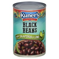 Kuner's Southwest - Black Beans With Mild Jalapenos And Lime - 15 Oz. Can