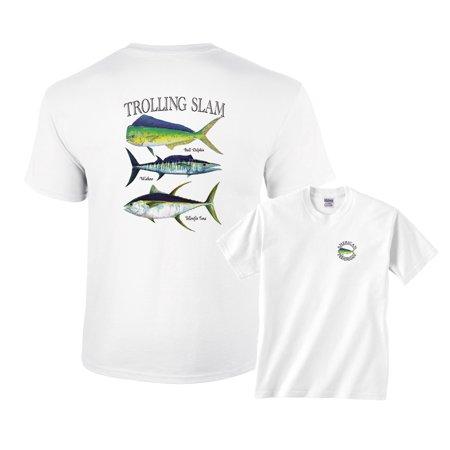 Wahoo Shorts - Trolling Slam Bull Dolphin Wahoo Yellowfin Fishing T-Shirt