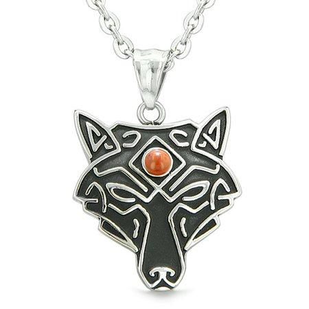 BestAmulets - Celtic Wolf All Seeing Third Wisdom Eye Magic