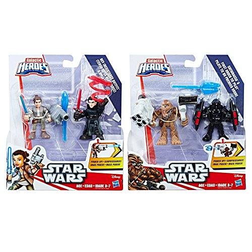 Hasbro HSBC0213 Playskool Star Wars Galactic Heroes Power Up 2-Pack44; Assorted Colors Set... by Hasbro