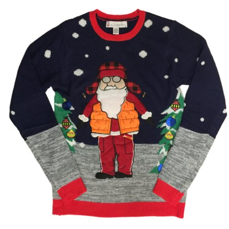 Mens Santa Claus Vest Woods Christmas Holiday Party Sweater