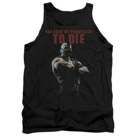 Din Tank (The Dark Knight Rises Permission To Die Mens Tank Top Shirt )