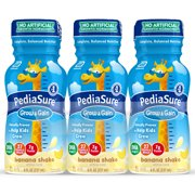 PediaSure Grow & Gain Kids' Nutritional Shake, with Protein, DHA, and Vitamins & Minerals, Banana, 8 fl oz, 24-Count