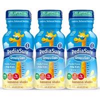 PediaSure Grow & Gain Kids' Nutritional Shake, with Protein, DHA, and Vitamins & Minerals, Banana, 8 fl oz (Choose Pack)