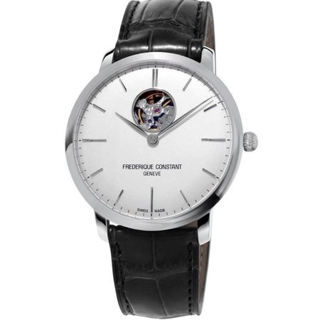 Slimline FC-312S4S6 White Dial Black Leather Band Men's Watch