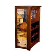 """""""Arles and Cypress Road"""" Wine Cabinet"""