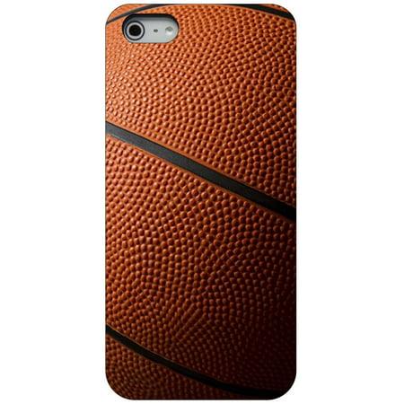 CUSTOM Black Hard Plastic Snap-On Case for Apple iPhone 5 / 5S / SE - Basketball Photo ()