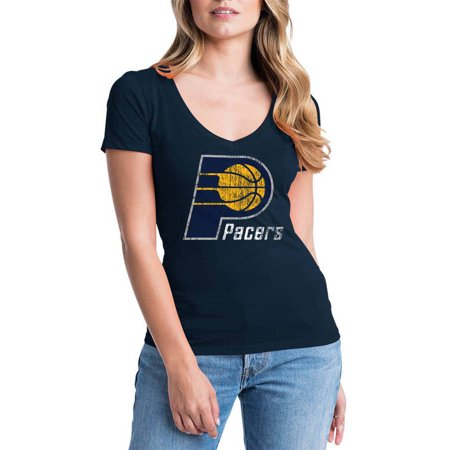 Indiana Pacers Nba Car - NBA Indiana Pacers Women's Short Sleeve V Neck Graphic Tee
