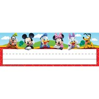 (6 PK) MICKEY MOUSE CLUBHOUSE NAME PLATES