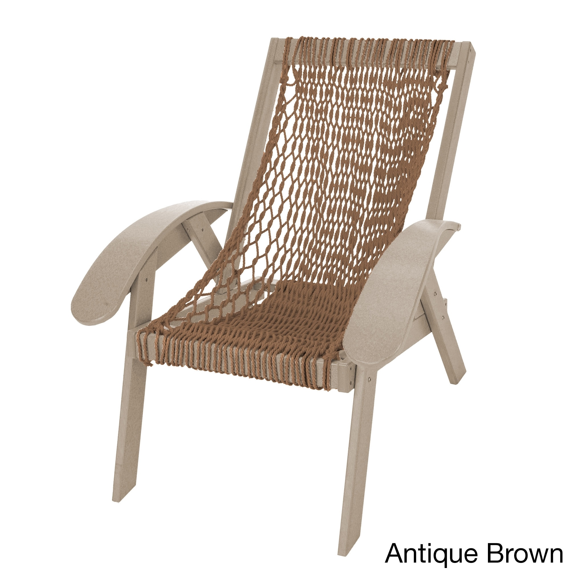 Coastal Duracord Weatherwood Chair Antique Brown