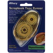 Allary 5/16 Inch by 1/4 Inch Repositionable Scrapbook Tape Runner Multi-Colored