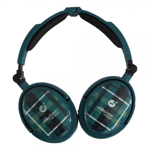 Image of Able Planet XNC230 Extreme Foldable Noise Canceling Headphones (Green Plaid)