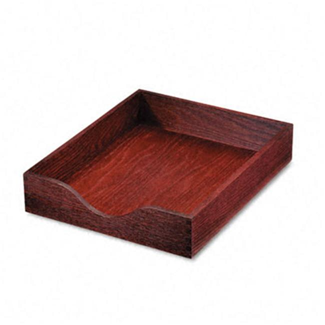 Carver 07213 Hardwood Letter Stackable Desk Tray- Mahogany
