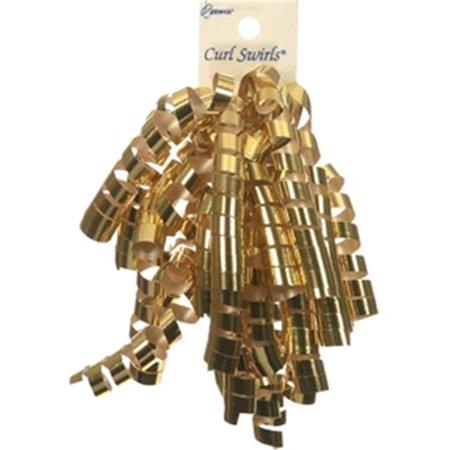 Berwick Offray 78905 Curl Swirl Ribbon - Gold Glitter