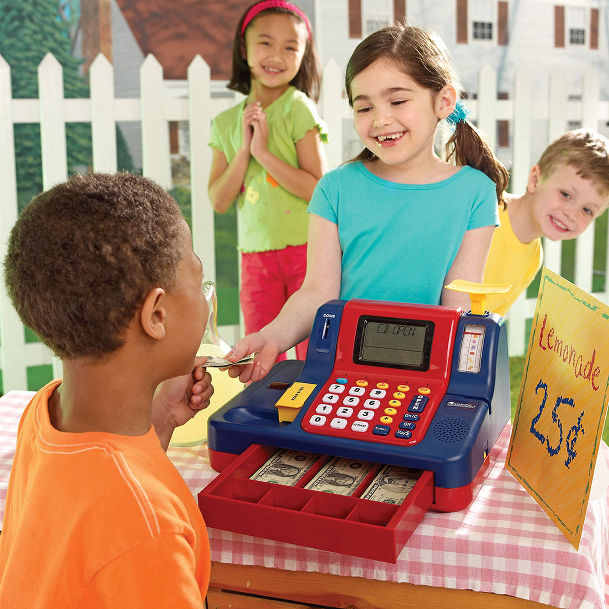 Learning Resources Pretend And Play Teaching Cash Register Walmartcom
