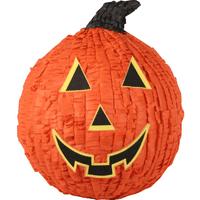 Orange Pumpkin Jack O' Lantern Halloween Pinata, 12in x 15in
