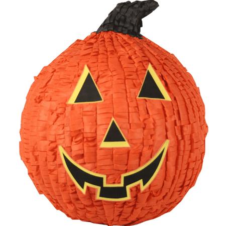 Orange Pumpkin Jack O' Lantern Halloween Pinata, 12in x 15in (Jupiter Pinata)