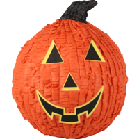 Orange Pumpkin Jack O' Lantern Halloween Pinata, 12in x 15in