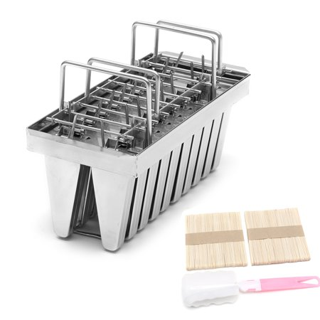 20 Lattice Stainless Steel Molds Ice Pop Maker Ice Lolly Popsicle Molds Ice  Cream Stick Holder Set