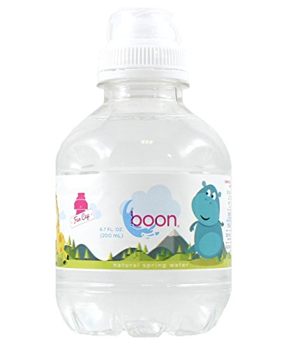 Boon Natural Spring Water, Sport Top Fun Cap Bottles for Kids 6.7 FL OZ (Pack of 12) by