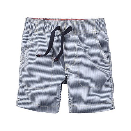 Little Boys' Blue Stripe Pull On Shorts- 5 Kids